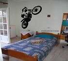 MOTO-X WHEELIE - WALL ART DECAL STICKER - ( S,M,L )