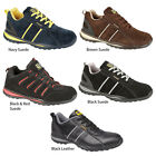 Mens New Black / Navy Leather Steel Toe Cap Safety Shoes / Trainers Size 3 - 12