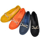 Leather round toe COMFY loafer ladiess flat ballerina walking shoes [JG]