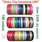 Wholesale 100Yards/roll Solid Color Double Faced Satin Ribbon 6-100mm Band/Tape