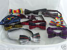 (New) TARTAN Bow tie and Hankie-Squares-With OR Without Hankie P&P 2UK 1st Class