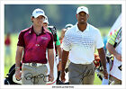 TIGER WOODS AND RORY MCILROY SIGNED PHOTO PRINT POSTER PICTURE 2013 THE MASTERS