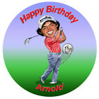 Personalised Rory Mcilroy Golf Edible Cake Toppers party fun cupcake