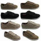 Womens Shoes Girls Ladies Flat Plimsolls Pumps Lace Up Sneaker Trainers Size 3-8