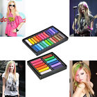 12 24 Colors Non-toxic Temporary Hair Chalk Dye Soft Pastels Salon Kit LW
