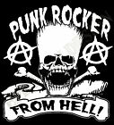 Punk Rocker From Hell Mens Ladies T-Shirt 70's The Clash Sex Pistols Ruts Cramps