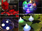 12 LED Float Tea Candle Light + 500 Silk Rose Petal Wedding Decorate Centerpiece