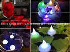 12 LED Floating Tea Candle Light + 500 Silk Rose Petal Wedding Decor Centerpiece