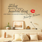 MARILYN MONROE WALL STICKERS QUOTES ART DECALS W55