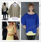 New Fresh Womens 2 In 1 Style Bat shirt Loose Batwing Tops Blouses T-shirt &Vest