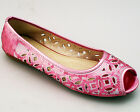 Ladies Womens Flat Casual Ballet Ballerina Shoe Size 3 4 5 6 7 Pink 061121 New