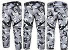 Grey Camo Camouflage CE ARMOURED Motorcycle Motorbike Waterproof Trousers Pants