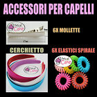 ACCESSORI PER CAPELLI DA DECORARE FAI DA TE  mollette elastici cerchietti pinze