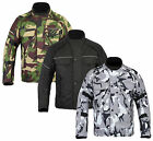 Grey Camouflage Camo CE Armoured Waterproof Motorcycle Motorbike Cordura Jacket