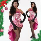 Burlesque sexy CHRISTMAS Fancy Dress Costume cancan moulin rouge saloon candy