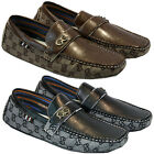 MENS LEATHER LOOK DESIGNER SHOES ITALIAN LOAFERS CASUAL MOCCASIN DRIVING BOOTS