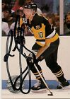 Ron Francis Pittsburgh Peguins 92-93 NHL Pro Set Hand Signed Card