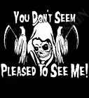 The Grim Reaper Gothic T-Shirt  Mens Womens Heavy Rock Metal Fear Don't Cult Ace