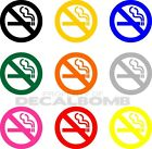 NO SMOKING Decal / Sticker 10 colors to choose from - home shop bar resturant