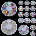 New Wheel New Mixed Nail Art Tips Glitters Rhinestones Slice Decoration Manicure