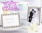 Silver Pearls - Mini Photo Frames Wedding Favour   Place Card Holder   Miniature