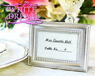 Silver Beaded - Photo Frames Wedding Favour   Place Card Holder