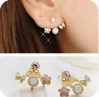 1 Pair Fashion Women Lady Elegant Crystal Rhinestone Ear Stud Earrings