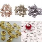 500x Bead Caps 6mm Filigree Flower Spacer Findings Silver or Gold Plated, Bronze