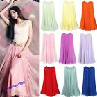 Hot Pretty Lady's Full Length Circle Chiffon Skirt Women's Long Maxi Dress Skirt