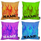 """PERSONALISED FLAMES DESIGN IDEAL CHILDRENS GIFT 18"""" X 18"""" CUSHION"""