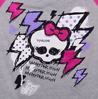 Monster High SKULL Girls Skullette Jersey Baseball T Shirt Tee Top Costume NWT !