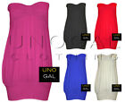 WOMENS KNOT BOOBTUBE HEART TOP LADIES STRAPLESS LONG VEST JERSEY HOLIDAY TOPS