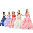 15 Items=5Pcs Handmade Doll Clothes Wedding Dresses &10 Shoes For Girl Dolls A