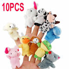 10pcs mixed Lovely Finger animal Puppet Set soft toy learn Children's play story