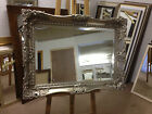 Stunning Ornate Silver Shabby Chic style swept overmantle mirrors-Various sizes