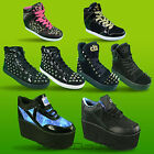 CTTC Cute To The Core Platform Wedge Spikes Hidden Heel Hi Lo Top Goth Trainers