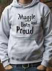 Muggle Born and Proud Jumper Hoodie Harry Potter Ron Hermione Wizard Hoody 0607J
