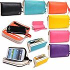 Lady Flip Wallet Case Removable Shell Stand & Double Zipper for Apple iPhone 5S