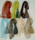 "Внешний вид - Curtain/Chair Tie Back- Organza- 26""spread w/ 4""tassel- 9 Bright colors"