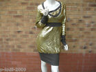 FUSE BY PREEN WIDE RIB SEQUIN DRESS UK 10 & 12 PARTY / COCKTAIL WEAR RRP £99.00