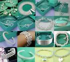 2013wholesale Fine Jewelry solid Silver Fashion bracelet Grid chain +gift box925