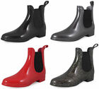new WOMENS LADIES CHELSEA ANKLE WELLIES WELLINGTON LOW HEEL SNOW RAIN BOOTS SIZE