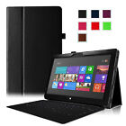 Slim Fit Folio Leather Case Stand Cover for Microsoft Surface RT 10.6Inch Tablet