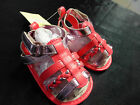 BNWT BABY GIRLS 3-6M 00 PRE-WALKER SANDALS METALLIC HOT PINK SHOES VELCRO NEW