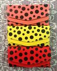 Polka Dot Oilcloth Credit Card Holder handbag Ladies Girls Purse Wallet Big