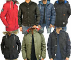 Mens Designer Bellfield Padded Jacket Fleece Puffer Hooded Bomber Varsity Coat