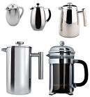 Grunwerg Double Wall Stainless Steel or Glass Cafetiere/French Coffee Press