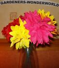 ARTIFICIAL COLOURED SPIKED DAHLIA STEMS FLOWERS