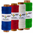 Natural Hemp Twine Cord - Pack of 4 TRUE HEMP spools - 1mm 20lb - 820feet/ 248m