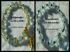 8mm PALE BLUE CRACKLE BEADS STRETCH BRACELET ~ SILVER OR GOLD ~ CHARMS